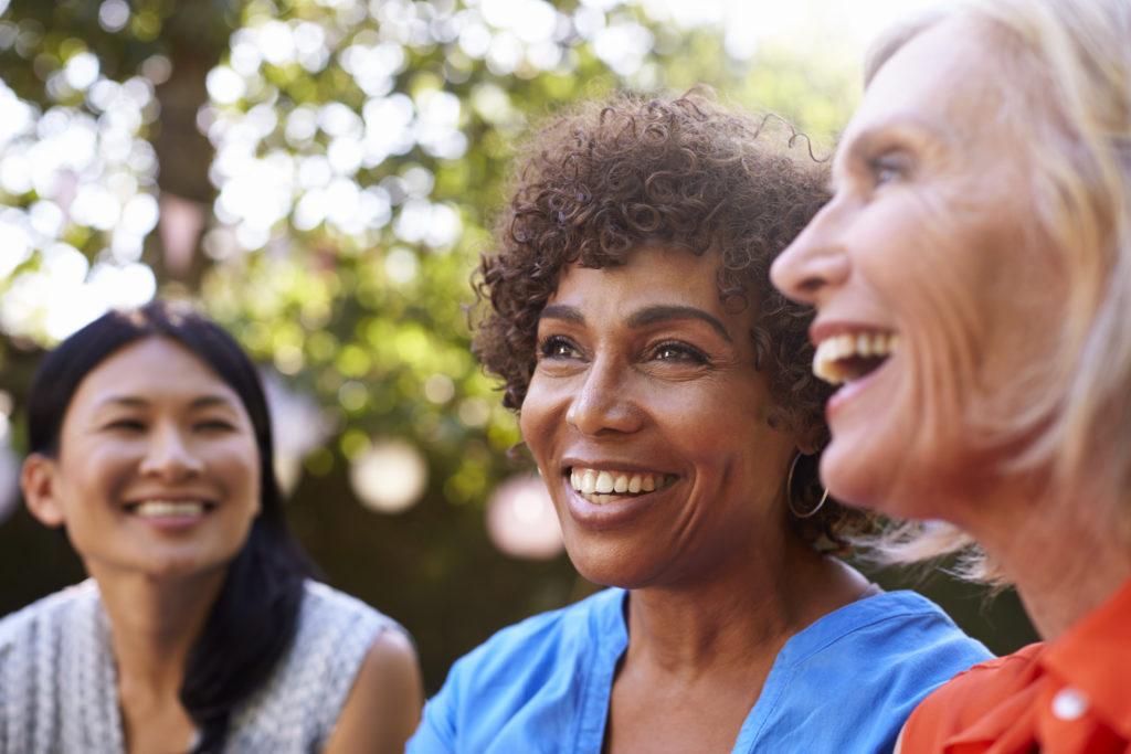 Mature Female Friends Enjoying Bladder Support